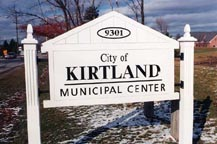 Kirtland Municipal Center Sign